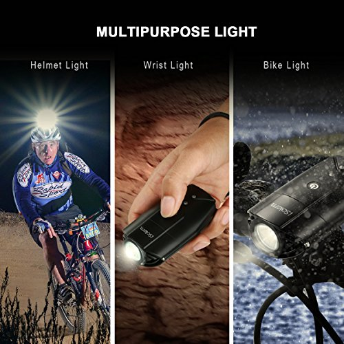 3-Mode Bicycle Headlight And Taillight ISolem Rechargeable LED Bike Light Set