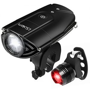 Rechargeable Led Headlamp USB, iSolem Head Torch Waterproof for Running 51lOMj9AoVL 300x300