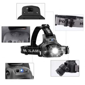 3-Mode Bicycle Headlight and Taillight Rechargeable LED Bike Light Set 61Ds80Vn2NL